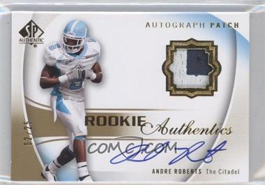 2010 SP Authentic - [Base] - Gold #134 - Andre Roberts /25