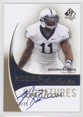 2010 SP Authentic - [Base] - Gold #161 - NaVorro Bowman /25
