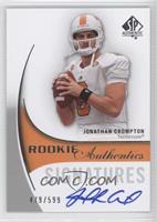 Rookie Authentics Signatures - Jonathan Crompton #/599