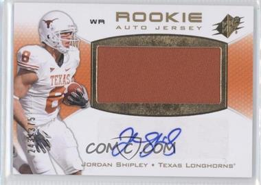 2010 SPx - [Base] #126 - Rookie Auto Jersey - Jordan Shipley /375