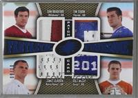 Sam Bradford, Tim Tebow, Jimmy Clausen, Colt McCoy [Noted] #/10