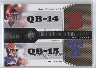 2010 SPx - Winning Combos Dual Jerseys #WC-QB - Sam Bradford, Tim Tebow /99