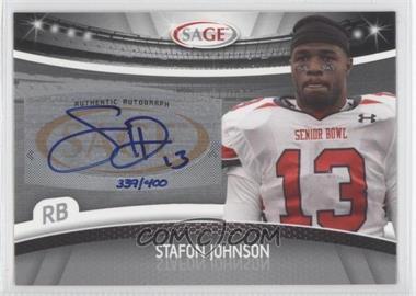 2010 Sage - Autographs - Silver #A-27 - Steve Johnson /400