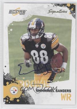 2010 Score - [Base] - Signatures [Autographed] #361 - Emmanuel Sanders