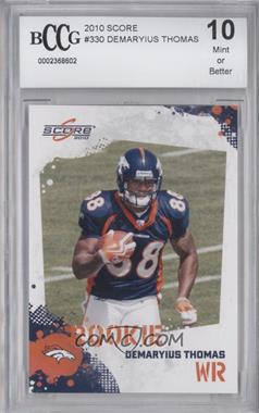 2010 Score - [Base] #330 - Demaryius Thomas [ENCASED]