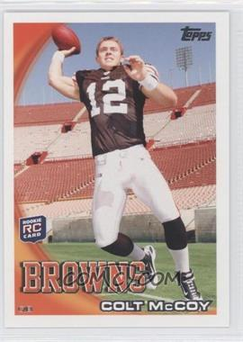 2010 Topps - [Base] #194.3 - Colt McCoy (No Helmet)