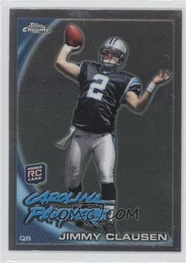2010 Topps Chrome - [Base] #C130.2 - Jimmy Clausen (Throwing)