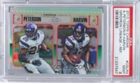 Adrian Peterson, Percy Harvin /99 [PSA 9]