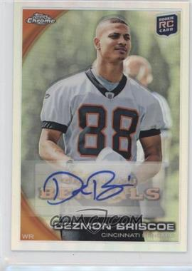 2010 Topps Chrome - Rookie Certified Autographs - Refractor [Autographed] #C17 - Dezmon Briscoe /50