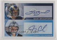 Sam Bradford, Jimmy Clausen [NoneEXtoNM] #/25