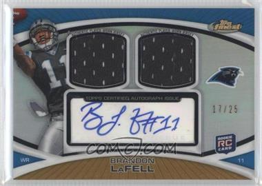 2010 Topps Finest - Autograph Dual Relic - Gold Refractor #FADR-BL - Brandon LaFell /25