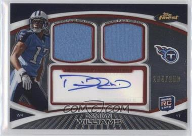 2010 Topps Finest - Autograph Dual Relic #FADR-DW - Damian Williams /250
