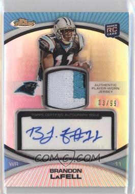 2010 Topps Finest - Rookie Patch Autographs - Refractor #104 - Brandon LaFell /99