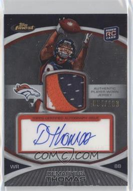 2010 Topps Finest - Rookie Patch Autographs #31 - Demaryius Thomas /100