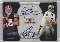 Colt McCoy, Drew Brees #/5
