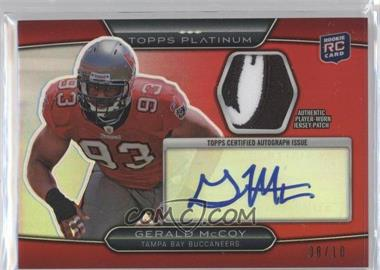 2010 Topps Platinum - Autographed Refractor Patch - Red #ARP-GM - Gerald McCoy /10