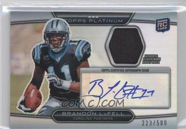 2010 Topps Platinum - Autographed Refractor Patch #ARP-B - Brandon LaFell /500