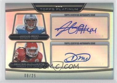 2010 Topps Platinum - Dual Autographed Rookies #PDRA-BM - Jahvid Best, Dexter McCluster /25