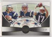 Tom Brady, Rob Gronkowski, Taylor Price #/25