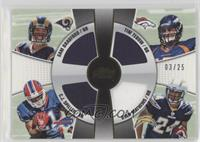 Sam Bradford, C.J. Spiller, Tim Tebow, Ryan Mathews #/25