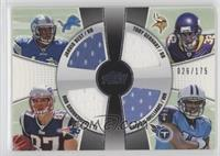 Toby Gerhart, Rob Gronkowski, Jahvid Best, Damian Williams [Noted] #/175