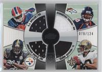 C.J. Spiller, Jonathan Dwyer, Demaryius Thomas, Jimmy Graham #/124