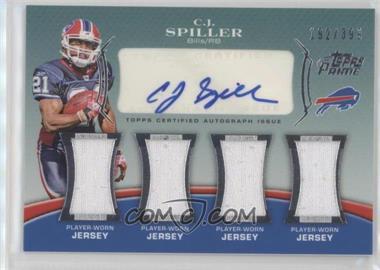 a4bb15161 2010 Topps Prime - Level 5 Autographed Relic  PL5-CS - C.J. Spiller ...