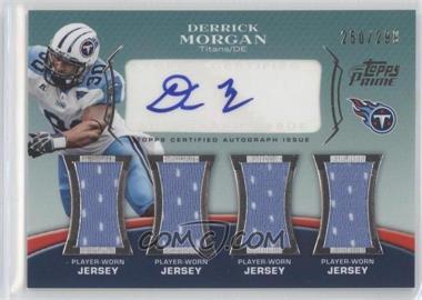 2010 Topps Prime - Level 5 Autographed Relic #PL5-DMO - Derrick Morgan /299