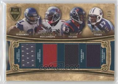 2010 Topps Supreme - Quad Rookie Relics - Green #SRQG-TWTW - Golden Tate, Ben Tate, Mike Williams, Damian Williams /3