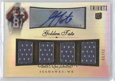2010 Topps Tribute - Autographed Quad Relics #AQR-GTA - Golden Tate