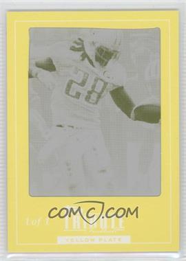 2010 Topps Tribute - [Base] - Framed Printing Plate Yellow #10 - Chris Johnson /1