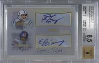 Peyton Manning, Eli Manning [BGS8.5NM‑MT+] #/20