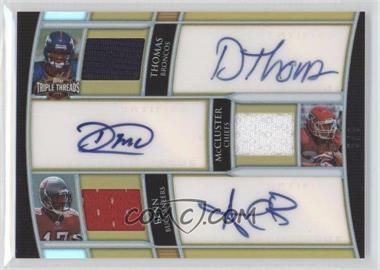 2010 Topps Triple Threads - Autograph Relic Combos - Gold #TTARC-4 - Arrelious Benn, Demaryius Thomas, Dexter McCluster /9