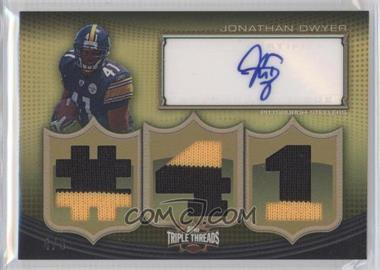 2010 Topps Triple Threads - Autographed Relics - Gold #TTAR-67 - Jonathan Dwyer /9
