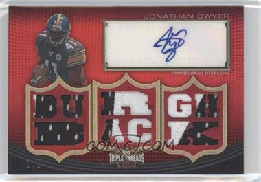 2010 Topps Triple Threads - Autographed Relics - Ruby #TTAR-69 - Jonathan Dwyer /3