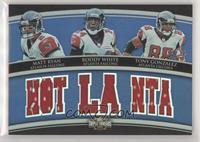 Matt Ryan, Roddy White, Tony Gonzalez #/36