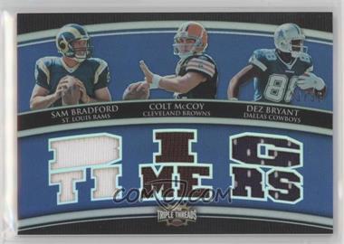 2010 Topps Triple Threads - Relic Combos #TTRC-46 - Sam Bradford, Colt McCoy, Dez Bryant /36