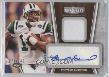 2010 Topps Unrivaled - Autograph Patch Relics #UAP-BE - Braylon Edwards /149