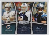 Tony Romo, Jimmy Clausen, Dan Marino #/299