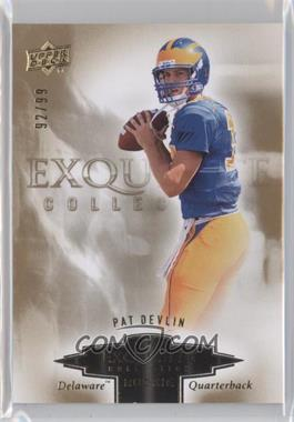 2010 Upper Deck Exquisite Collection - Exquisite Rookies #ER-PD - Pat Devlin /99