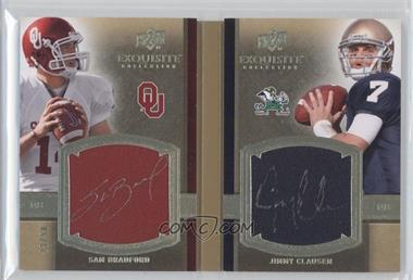 2010 Upper Deck Exquisite Collection - Rookie Bookmarks #RBM-BC - Sam Bradford, Jimmy Clausen /50