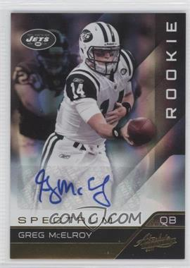 2011 Absolute Memorabilia - [Base] - Spectrum Gold Autographs [Autographed] #137 - Greg McElroy /299
