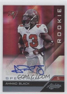 2011 Absolute Memorabilia - [Base] - Spectrum Platinum Autographs [Autographed] #184 - Ahmad Black /25