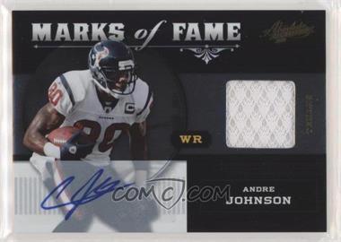 2011 Absolute Memorabilia - Marks of Fame - Materials Signatures [Autographed] [Memorabilia] #2 - Andre Johnson /25
