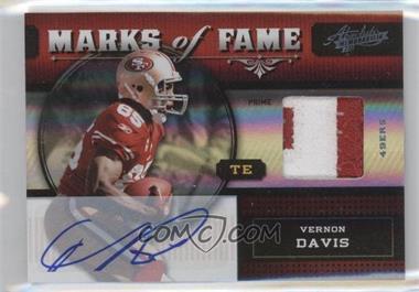 2011 Absolute Memorabilia - Marks of Fame - Spectrum Materials Prime Signatures [Autographed] [Memorabilia] #1 - Vernon Davis /10