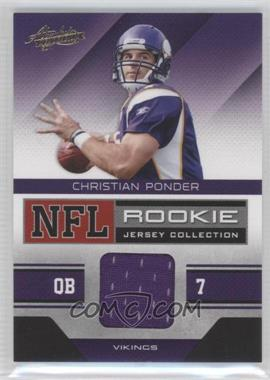 2011 Absolute Memorabilia - NFL Rookie Jersey Collection #8 - Christian Ponder