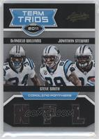DeAngelo Williams, Jonathan Stewart, Steve Smith #/75