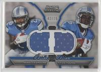 Mikel Leshoure, Titus Young #/75