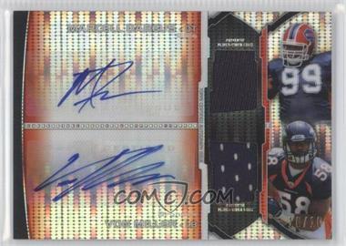 2011 Bowman Sterling - Rookie Dual Autographs - Pulsar Refractors Relics #BSPDAR-DM - Marcell Dareus, Von Miller /10