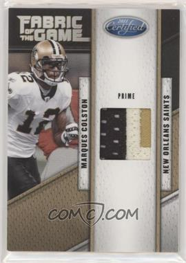 2011 Certified - Fabric of the Game - Prime #36 - Marques Colston /50